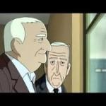 scena dal film animazione, Emilio e Miguel alla finestra